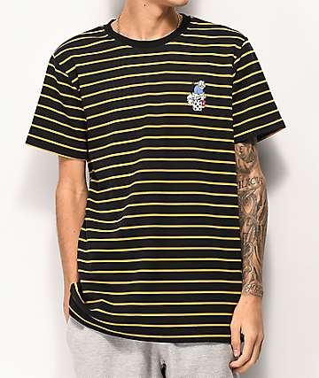 Utmost Denis Striped Black T-Shirt