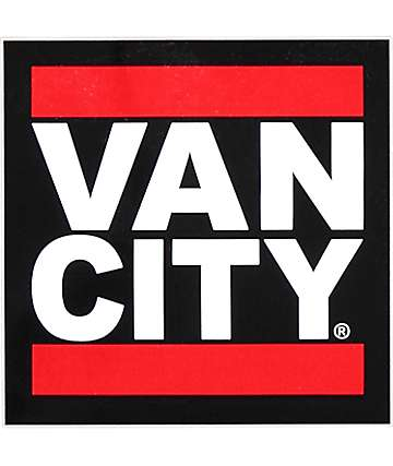 Van City Black Sticker