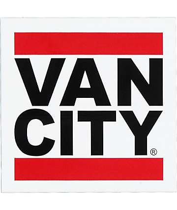 Van City White Sticker