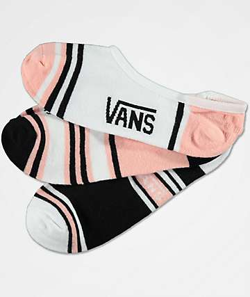 Vans 3 Pack Double Play Canoodle No Show Socks