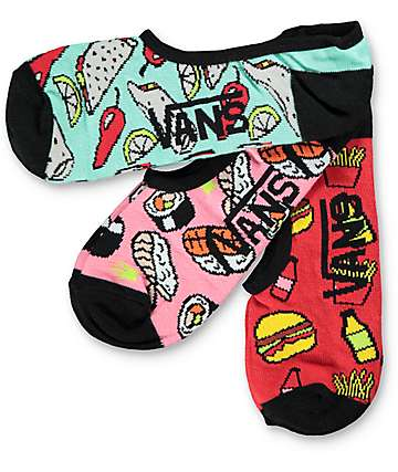 Vans 3 Pack Munchies Canoodle calcetines invisibles