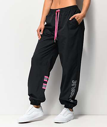 Vans After Dark Black & Pink Track Pants