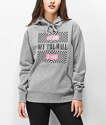 f80fc6ef49 Vans Another Dimension Heather Grey Hoodie