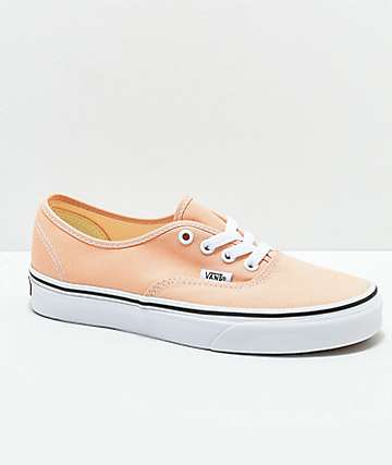 Vans Authentic Bleach Apricot & White Skate Shoes