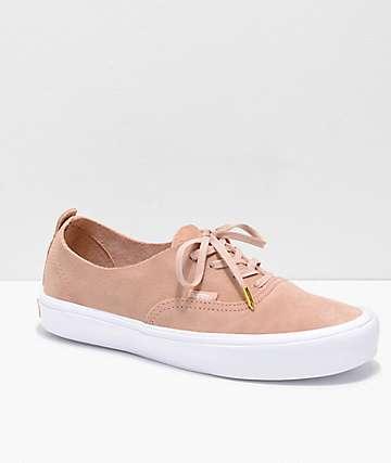Vans Authentic Decon Rose Suede Skate Shoes