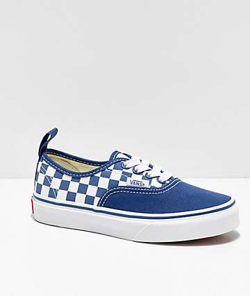 Vans Authentic Elastic Navy & Bonnie Blue Skate Shoes