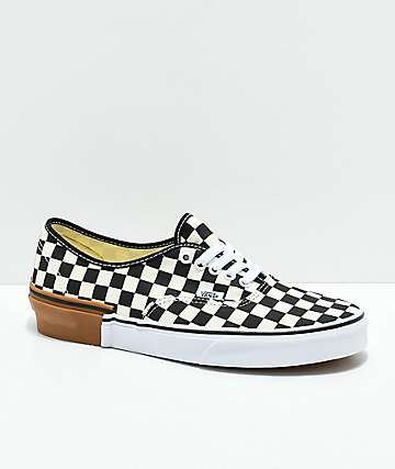 Vans Authentic Gum Block Checkerboard Skate Shoes