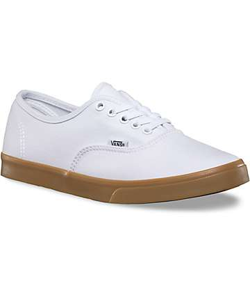 Vans Authentic Lo Pro White & Gum Shoes