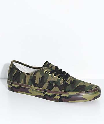 Vans Authentic Olive Camo Skate Shoes