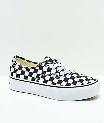 Vans Authentic Platform 2.0 Black & White Checkerboard Shoes