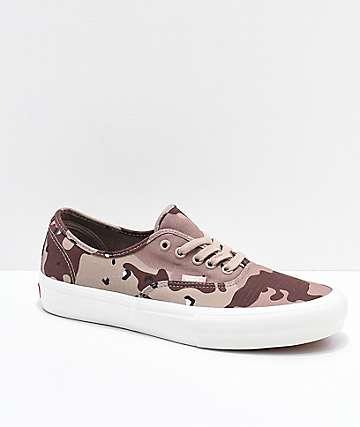 517644b2dd Vans Authentic Pro Desert Camo Skate Shoes
