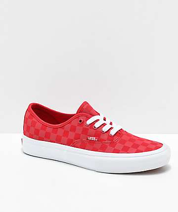 8bf473007d Vans Authentic Pro Reflect Red Skate Shoes