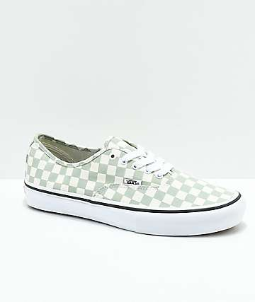 Vans Authentic Pro Sage Checkered Skate Shoes