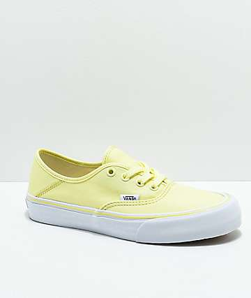 Vans Authentic SF Tender zapatos de skate amarillos