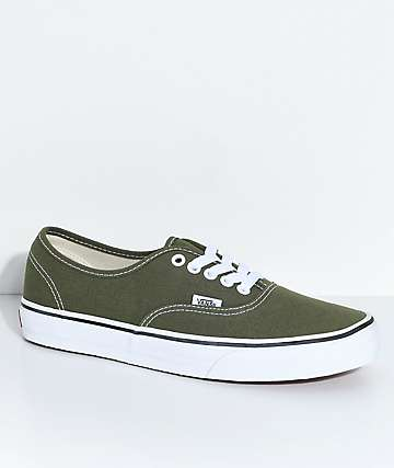 Vans Authentic Winter Moss & True White Skate Shoes