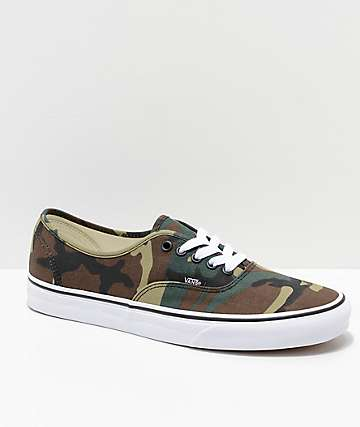 1af42e64c6f2b5 Vans Authentic Woodland Camo Skate Shoes