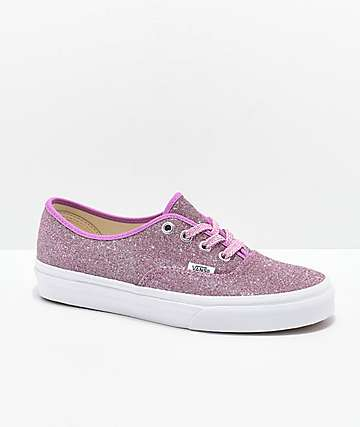 Vans Authentic zapatos de skate de brillo rosa