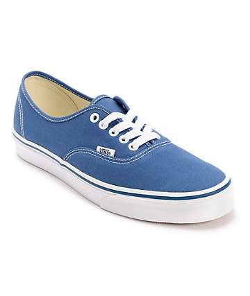 Vans Authentic zapatos de skate de lienzo en azul marino
