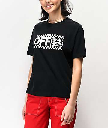 Vans Avenue Black Boxy T-Shirt