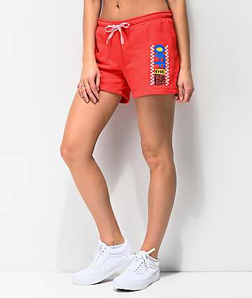 Vans Avenue Red French Terry Sweat Shorts