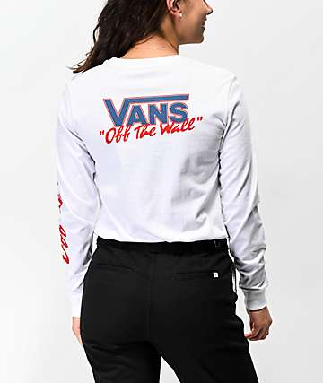 Vans BMX Red, White & Blue Long Sleeve T-Shirt