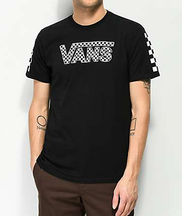 6fb993c8545c30 Vans Basic Drop Check Fill Black T-Shirt