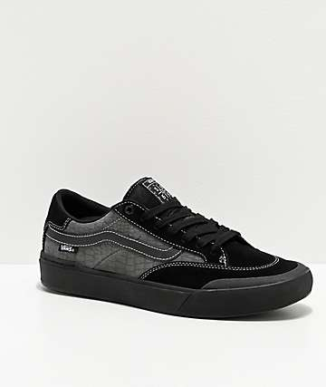 Vans Berle Pro Black & Pewter Croc Skate Shoes