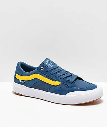 Vans Berle Pro Navy & Yellow Skate Shoes