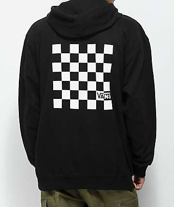 Vans Big Check Box Black & White Hoodie