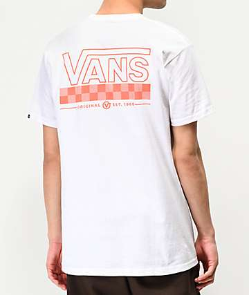 Vans Big Check White T-Shirt