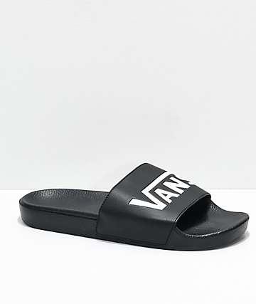 e9c9fafe514 Vans Black   White Slide On Sandals