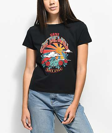 Vans Born To Roam camiseta negra