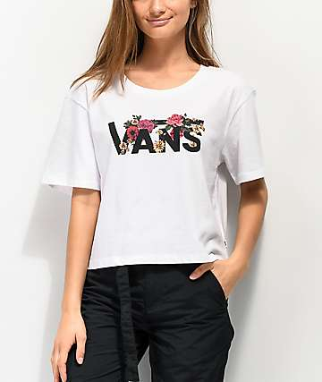 Vans Botanic White Crop T-Shirt