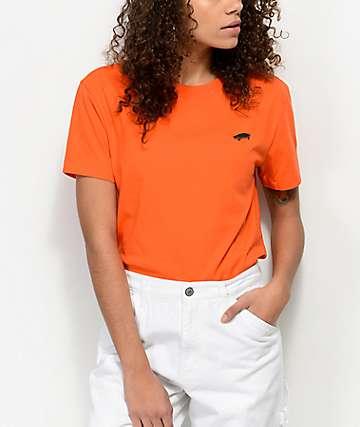 Vans Boulder camiseta naranja cuadrada