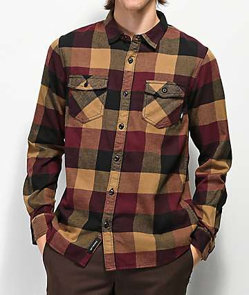 Vans Box Brown & Burgundy Flannel Shirt