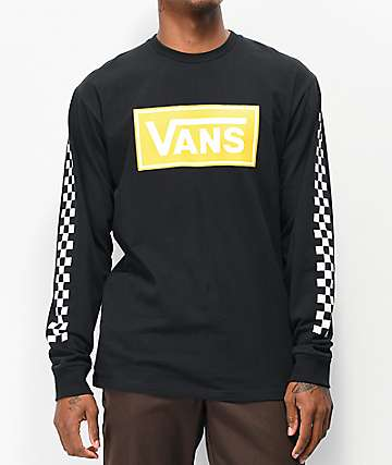 9dd5308048e116 Vans Box Vee Black Long Sleeve T-Shirt