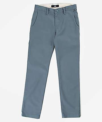 Vans Boys Authentic Stormy Grey Chino Pants
