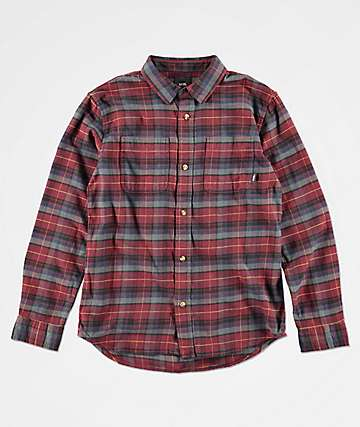 d631e13338f095 Vans Boys Banfield Port Royale Flannel Shirt