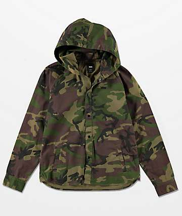 Vans Boys Bradbury Hooded Camo Shirt
