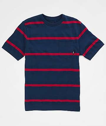 Vans Boys Chadron Dress Blues & Chili Pepper T-Shirt