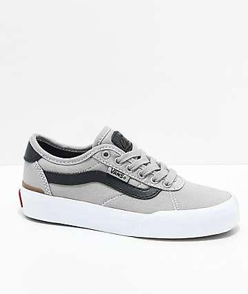 Vans Boys Chima Pro 2 Drizzle & Black Skate Shoes