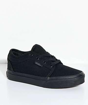 Vans Boys Chukka Low Blackout Shoes