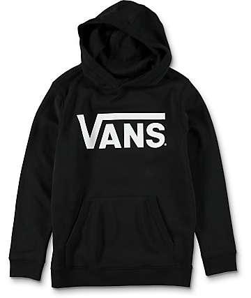 Vans Boys Classic Black & White Hoodie