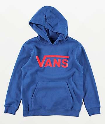 Vans Boys Classic Blue Hoodie