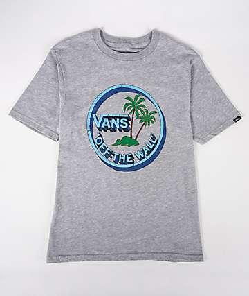 Vans Boys Concrete Jungle Heather Grey T-Shirt