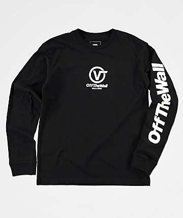 Vans Boys Distorted Performance Black Long Sleeve T-Shirt