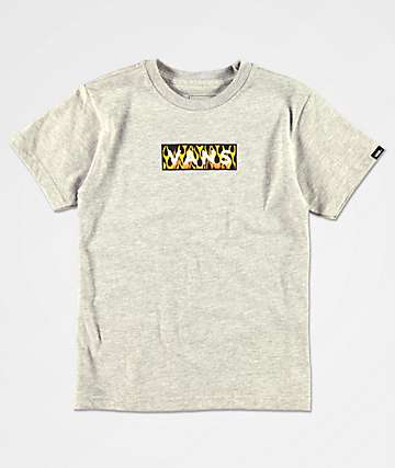 Vans Boys Easy Box Flame Grey T-Shirt