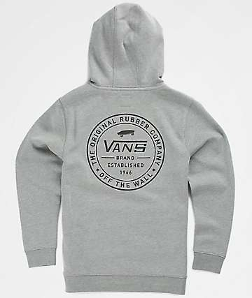 Vans Boys Established 66 Cement Grey Hoodie