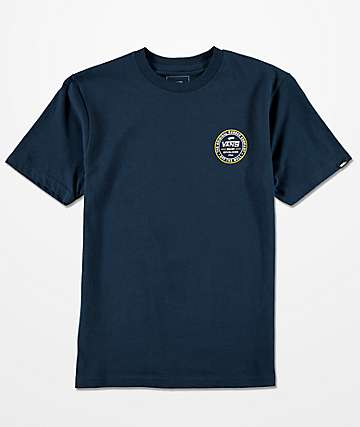 Vans Boys Established 66 Navy T-Shirt