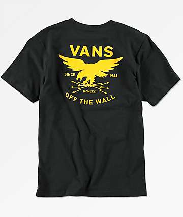 Vans Boys Fight On Black T-Shirt